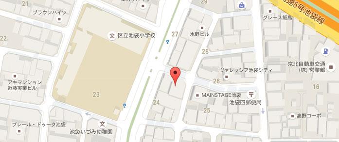 日本デザインスクールまでの地図